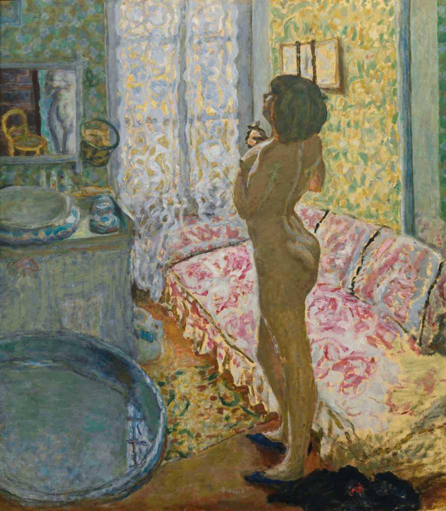 Cabinet de toilette au canapé rose ou l'eau de cologne, 1908, Pierre Bonnard