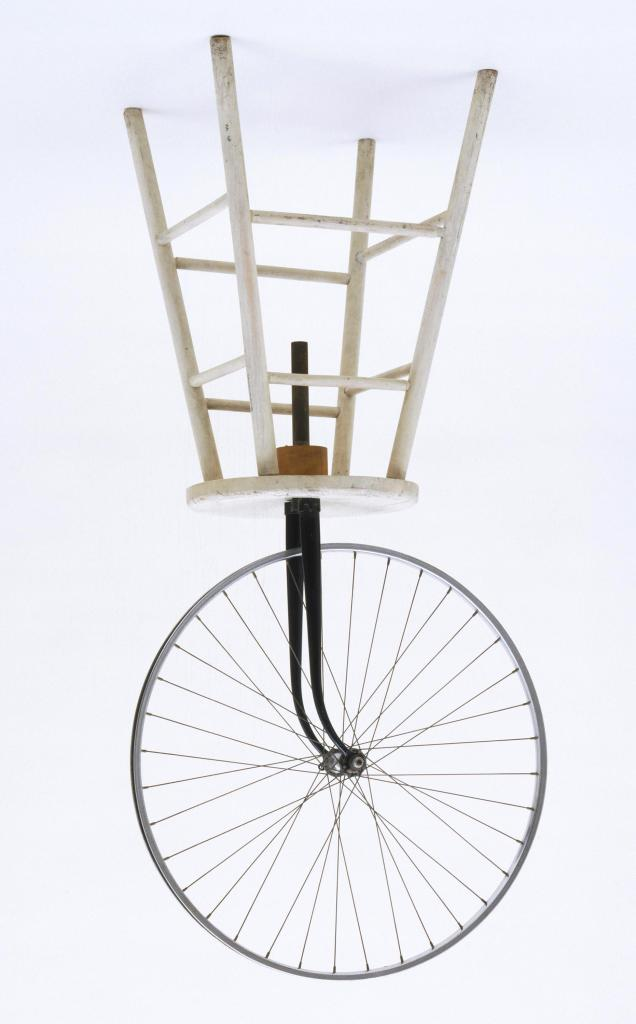 Marcel Ducamp roue de bicyclette, 1913, photo retourné,