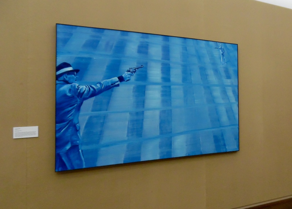 Jacques Monory, Abréviation du vide n°8, 2008, huile sur toile